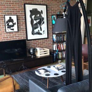 Black Backless Jumpsuit